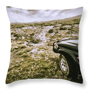 4wd On Offroad Track Throw Pillow