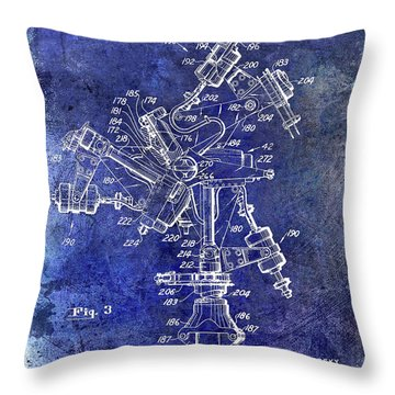 1950 Helicopter Patent Throw Pillow by Jon Neidert