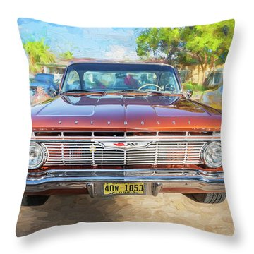 1961 Chevrolet Impala Ss  Throw Pillow by Rich Franco