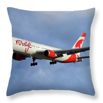 Air Canada Rouge Boeing 767-333 117 Throw Pillow