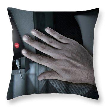 Alarming Cellphone Next To Bed Throw Pillow