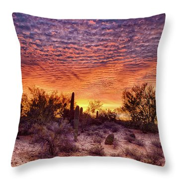 Arizona Sunrise Throw Pillow