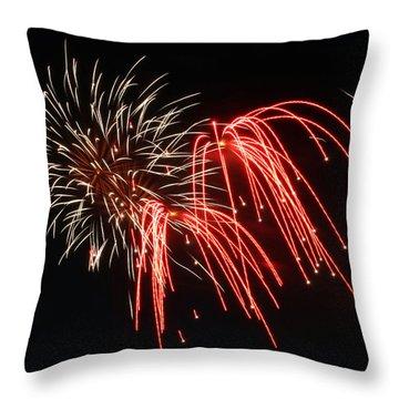 Astoria Park Fireworks Throw Pillow