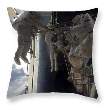 Astronauts Participate Throw Pillow by Stocktrek Images