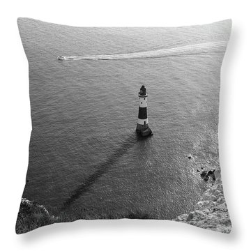 Throw Pillow featuring the photograph Beachy Head Lighthouse by Will Gudgeon