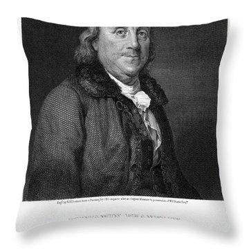 Benjamin Franklin Throw Pillow by Granger
