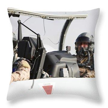 Camp Speicher, Iraq - U.s. Air Force Throw Pillow
