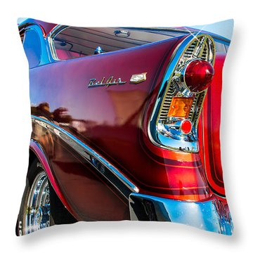 56 Chevy Bel Air Throw Pillow