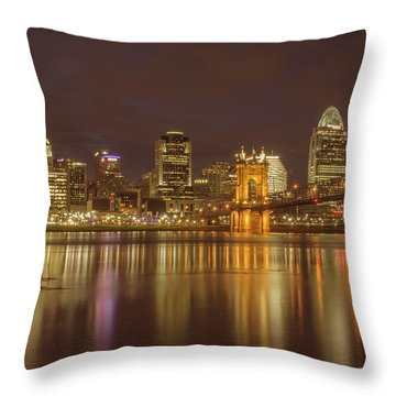 Cincinnati, Ohio Throw Pillow by Scott Meyer