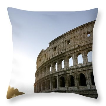 Coliseum. Rome Throw Pillow by Bernard Jaubert