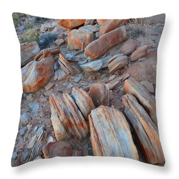 Throw Pillow featuring the photograph Colorful Cove In Valley Of Fire by Ray Mathis