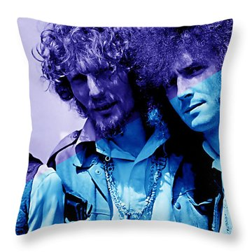 Cream Eric Clapton Jack Bruce Ginger Baker Throw Pillow by Marvin Blaine
