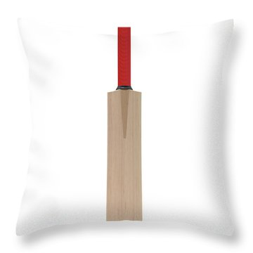 Cricket Bat Throw Pillow
