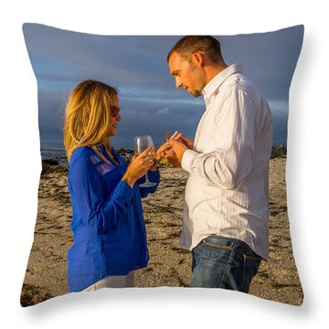 5 Cropped Throw Pillow