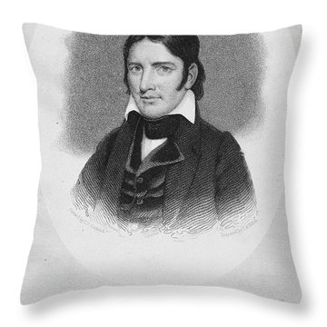 Davy Crockett (1786-1836) Throw Pillow by Granger