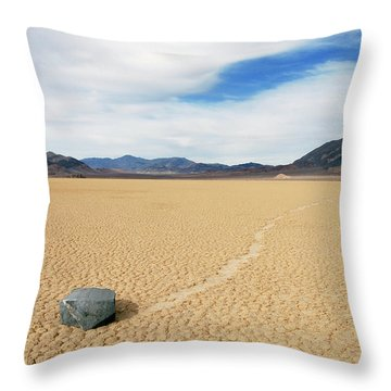 Throw Pillow featuring the photograph Death Valley Racetrack by Breck Bartholomew