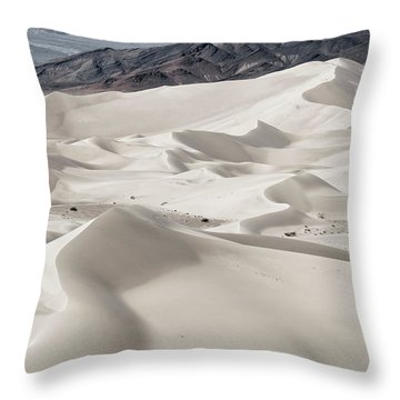 Throw Pillow featuring the photograph Dumont Dunes 5 by Jim Thompson