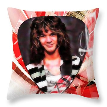 Eddie Van Halen Art Throw Pillow by Marvin Blaine