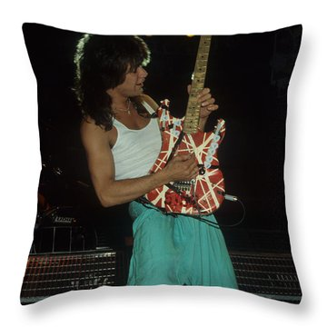 Eddie Van Halen Throw Pillow