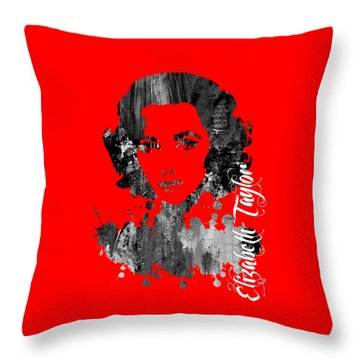 Elizabeth Taylor Collection Throw Pillow