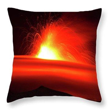 Etna, The Volcano Throw Pillow