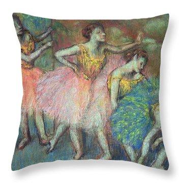 Four Dancers Throw Pillow