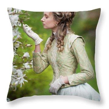Georgian Woman Throw Pillow