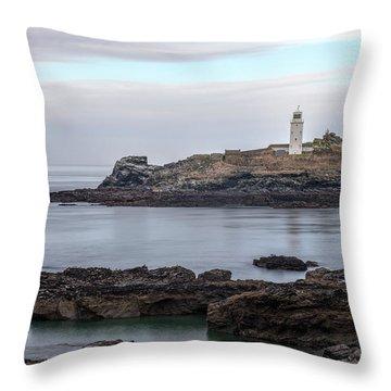 Godrevy Lighthouse - England Throw Pillow