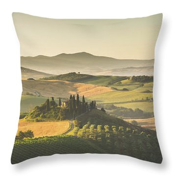 Golden Tuscany Throw Pillow by JR Photography