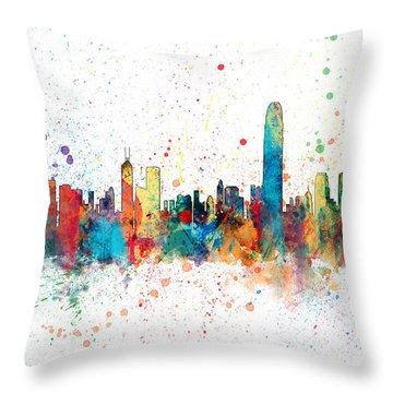 Hong Kong Skyline Throw Pillow