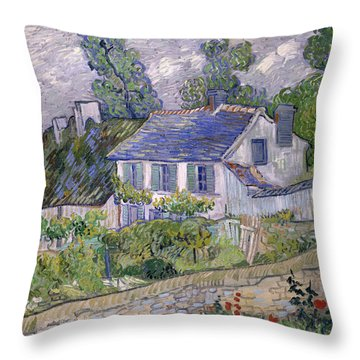Houses At Auvers Throw Pillow