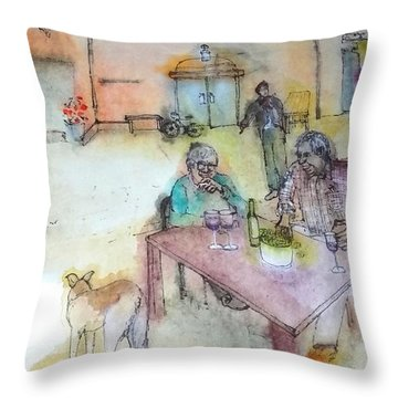Italy Love Scroll Throw Pillow