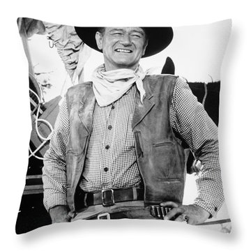 John Wayne (1907-1979) Throw Pillow by Granger