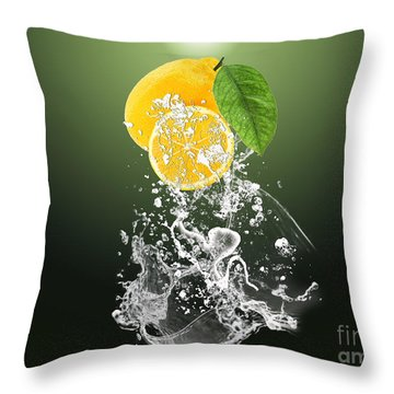 Lemon Splast Throw Pillow