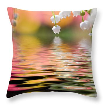 Lily Of The Valley Throw Pillow