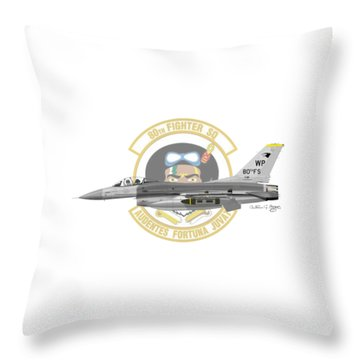 Lockheed Martin F-16c Viper Throw Pillow by Arthur Eggers