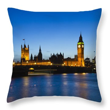 London  Skyline Big Ben Throw Pillow by David French