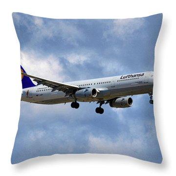Lufthansa Airbus A321-131 Throw Pillow