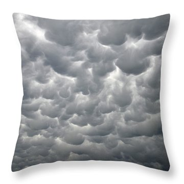 Throw Pillow featuring the photograph Mammatus Clouds by Ray Mathis