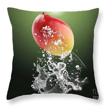 Mango Splash Throw Pillow