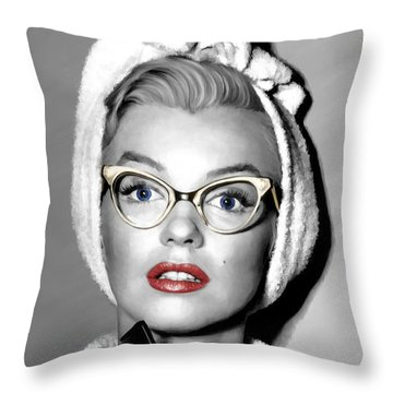 Marilyn Monroe Large Size Portrait Throw Pillow by Gabriel T Toro