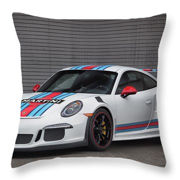 #martini #porsche 911 #gt3rs #print Throw Pillow