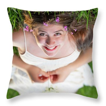 Mckenna Senior Portrait Throw Pillow