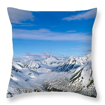 Mountains And Glaciers In Wrangell-st Throw Pillow