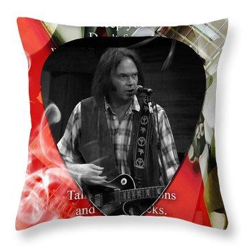 Neil Young Art Throw Pillow