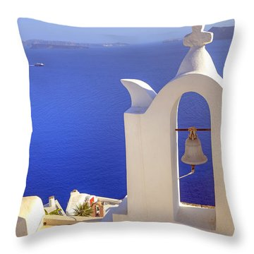 Oia - Santorini Throw Pillow by Joana Kruse