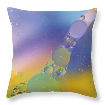 Throw Pillow featuring the photograph Oil In Water by Kevin Blackburn