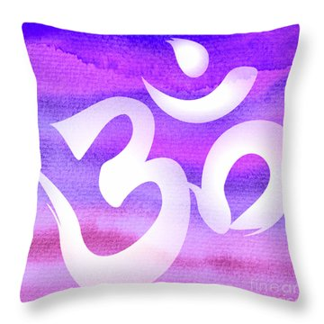 Om Symbol. Light Purple Pastels Throw Pillow