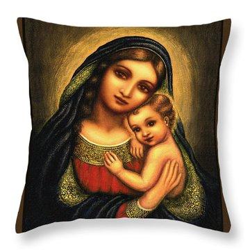 Oval Madonna Throw Pillow