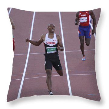 Pam Am Games. Athletics Throw Pillow